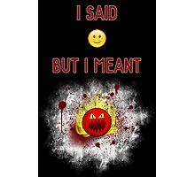 Honest emoji Photographic Print