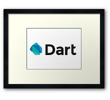 dart programming language Framed Print