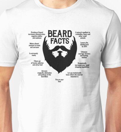 Beard Facts (black) Unisex T-Shirt