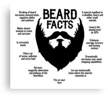 Beard Facts (black) Canvas Print