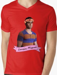everybody loves Cousin Miguel... Mens V-Neck T-Shirt
