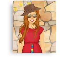 The Red Cowgirl Canvas Print