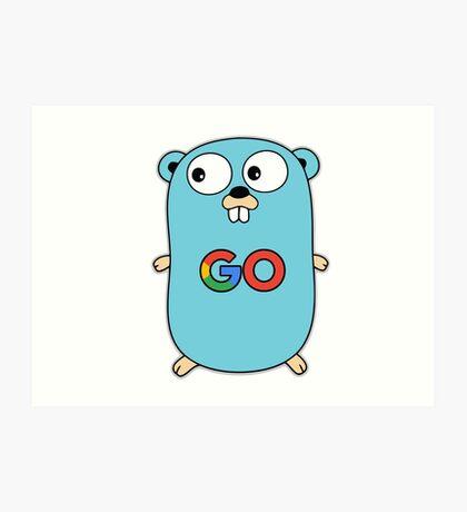 google go programming language color Art Print