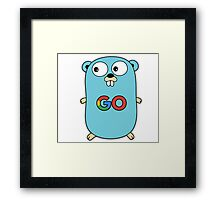 google go programming language color Framed Print
