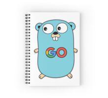 google go programming language color Spiral Notebook