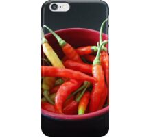 Chillies in a bowl iPhone Case/Skin