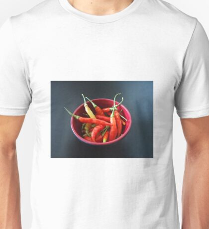 Chillies in a bowl Unisex T-Shirt