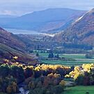 Panorama of Scottish Mountains and Loch by Steve