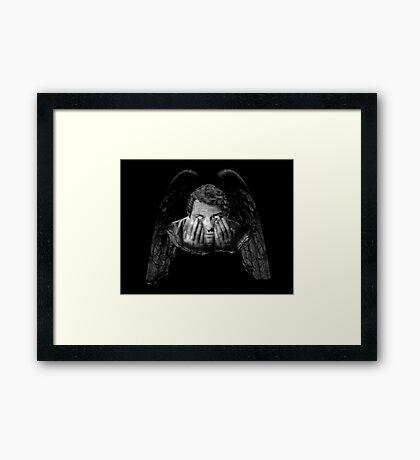 Weeping Angel Castiel Framed Print