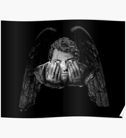 Weeping Angel Castiel Poster