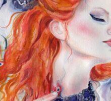 When Darkness Falls Vampire art by Renee Lavoie Sticker