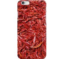 Chili background iPhone Case/Skin
