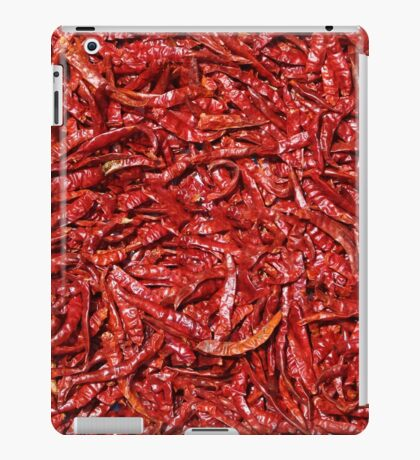 Chili background iPad Case/Skin