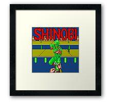 SHINOBI BONUS STAGE Framed Print