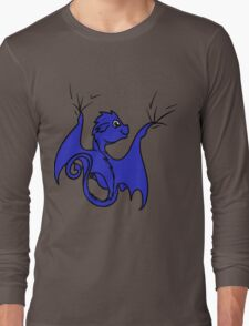 Blue Dragon Rider Long Sleeve T-Shirt