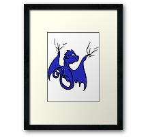 Blue Dragon Rider Framed Print