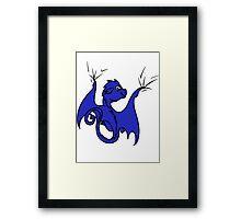 Blue Dragon Rider Framed Print