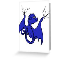 Blue Dragon Rider Greeting Card