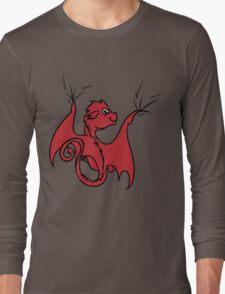 Red Dragon Rider Long Sleeve T-Shirt