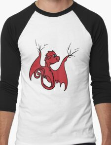 Red Dragon Rider Men's Baseball ¾ T-Shirt