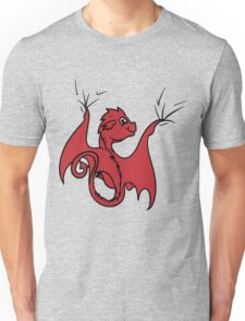 Red Dragon Rider Unisex T-Shirt