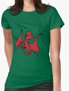 Red Dragon Rider Womens Fitted T-Shirt