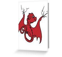 Red Dragon Rider Greeting Card