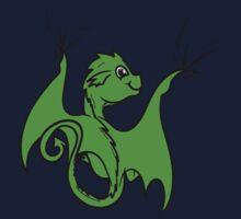 Green Dragon Rider Kids Tee