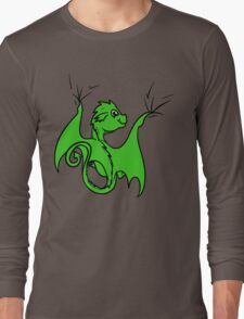 Green Dragon Rider Long Sleeve T-Shirt