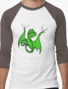 Green Dragon Rider Men's Baseball ¾ T-Shirt