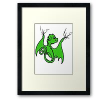 Green Dragon Rider Framed Print
