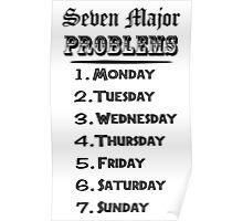 Seven Major Problems Poster