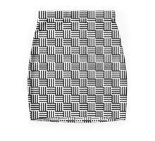 Black & White Basket Mini Skirt