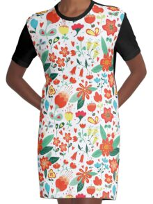Cute flowers for Valentines Day Graphic T-Shirt Dress