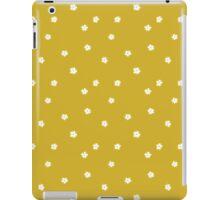 Elderflowers on ochre, sparse iPad Case/Skin