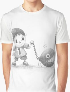 The villager walks his chomp Graphic T-Shirt