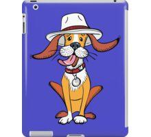 Funny dog in hat iPad Case/Skin
