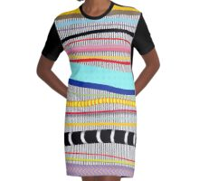 Bold stripes,breezy and beautiful,Striped Contemporary world's cute fashion Graphic T-Shirt Dress