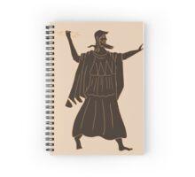 Zeus Throwing a Lightning Bolt Spiral Notebook