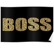 BOSS Gold Glitter Design Poster