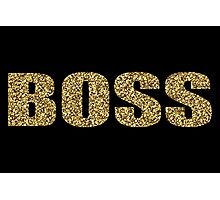 BOSS Gold Glitter Design Photographic Print