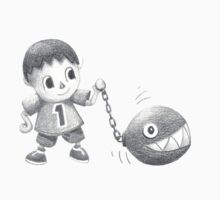 The villager walks his chomp Baby Tee