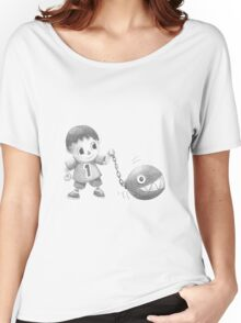 The villager walks his chomp Women's Relaxed Fit T-Shirt