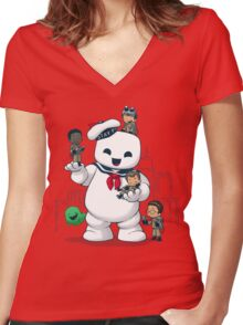 Puft Buddies Women's Fitted V-Neck T-Shirt