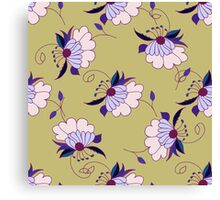 Colorful hand drawn floral seamless pattern Canvas Print
