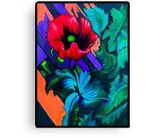 Poppie Fence Canvas Print