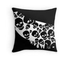 Gothic White Skulls Throw Pillow