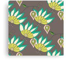 beautiful seamless floral pattern Canvas Print