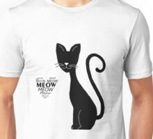 Lovely cat meows Unisex T-Shirt