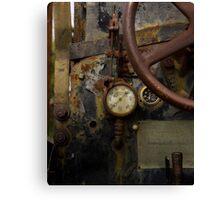 Rusty controls Canvas Print